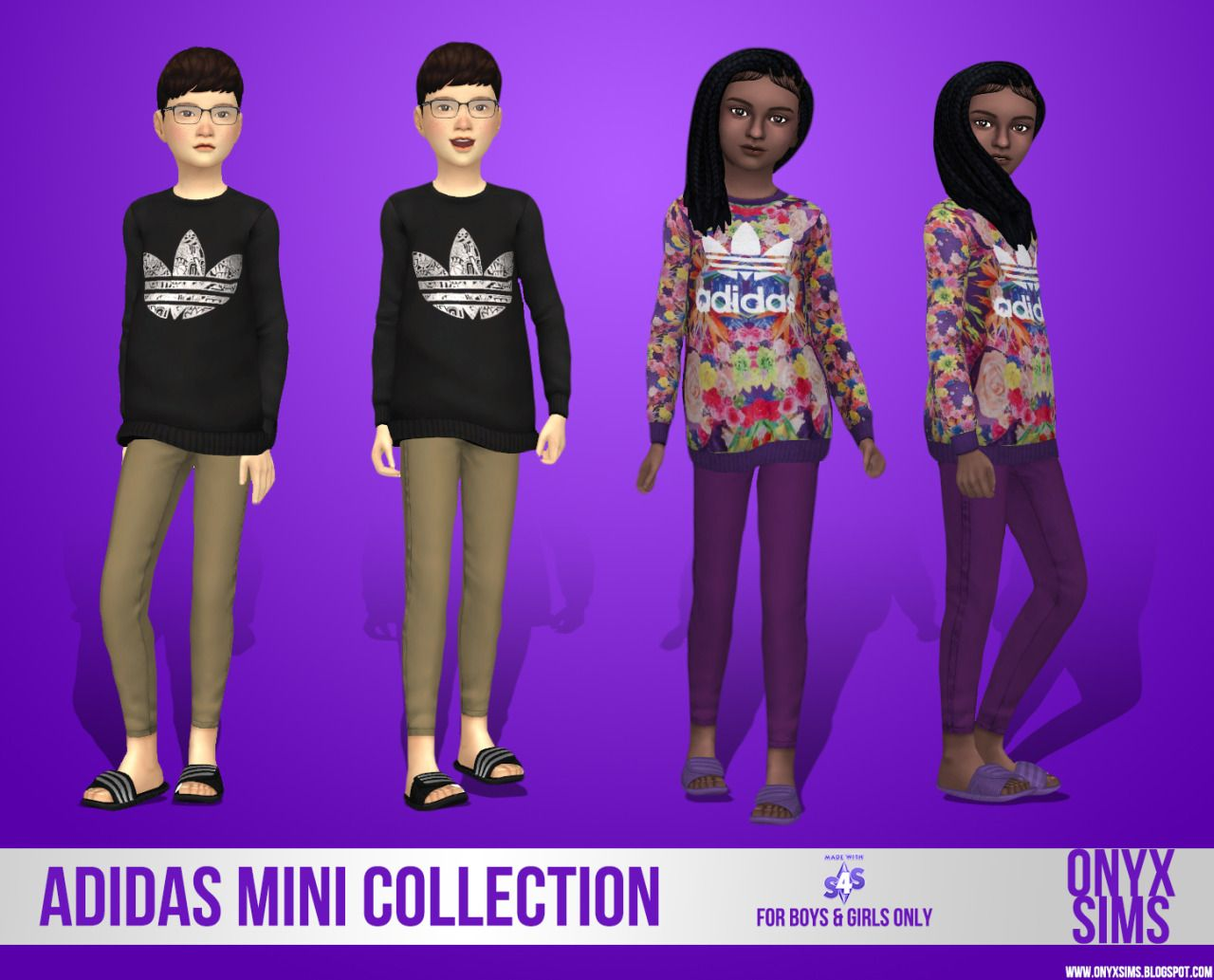 AstridJ — onyxsims:  ADIDAS MINI COLLECTIONJust a small set...