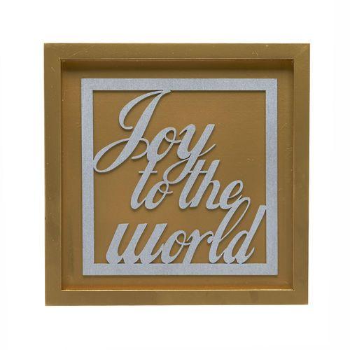 "Cork Joy to the World Cutout Box Sign, Red/Green 7"" x 7"""