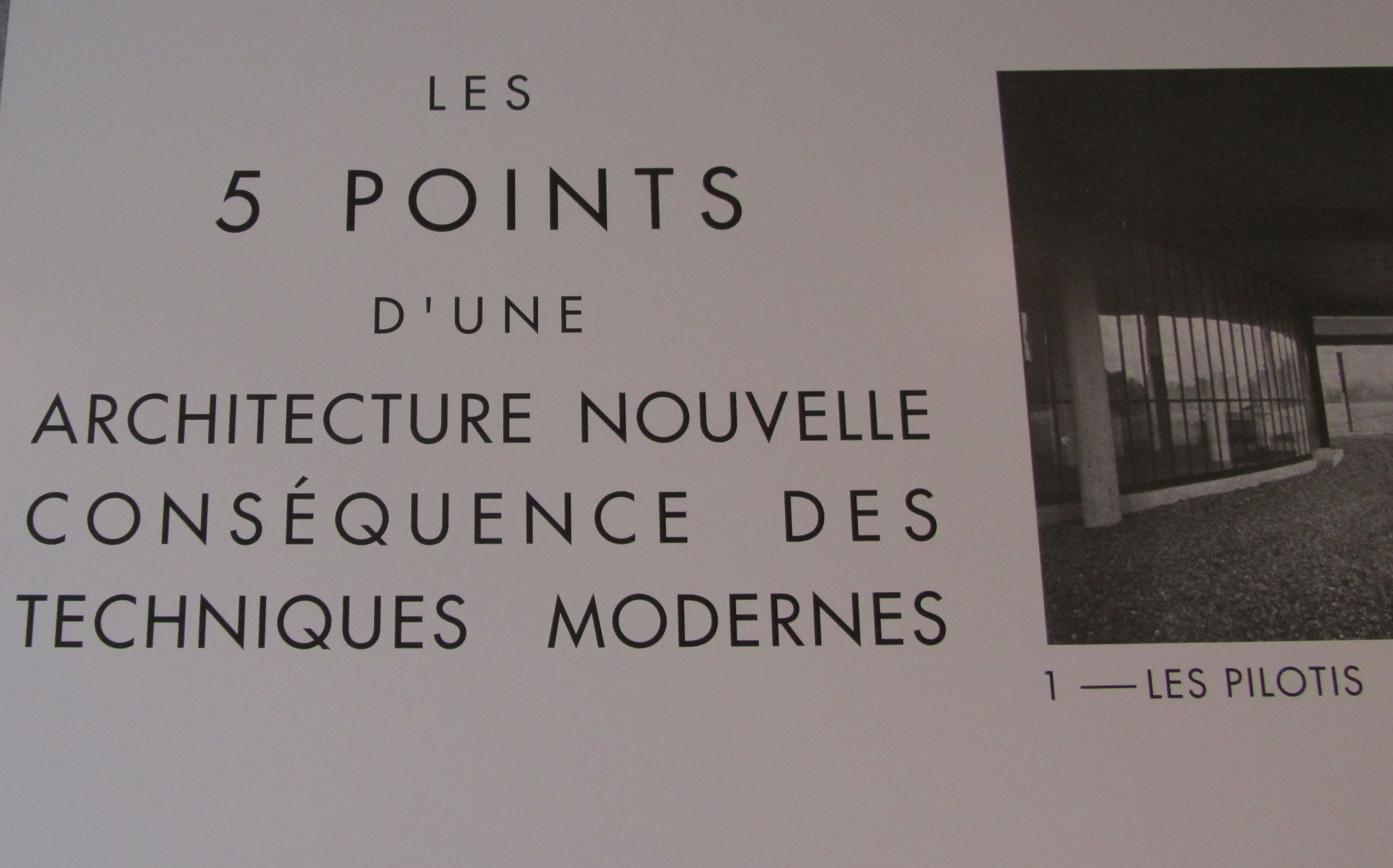 Le Corbusier Les 5 Points les cinq points de l'architecture moderne, publiés en 1927