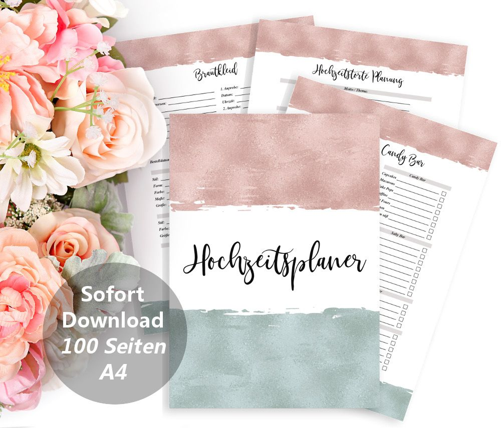 Weddin Planner Digital, Printable Planner, DIY Wedding, Planner Book ...