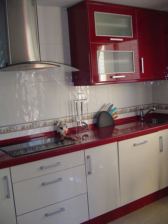 Modular Kitchen Designs Red Colour Ramekitchen Com