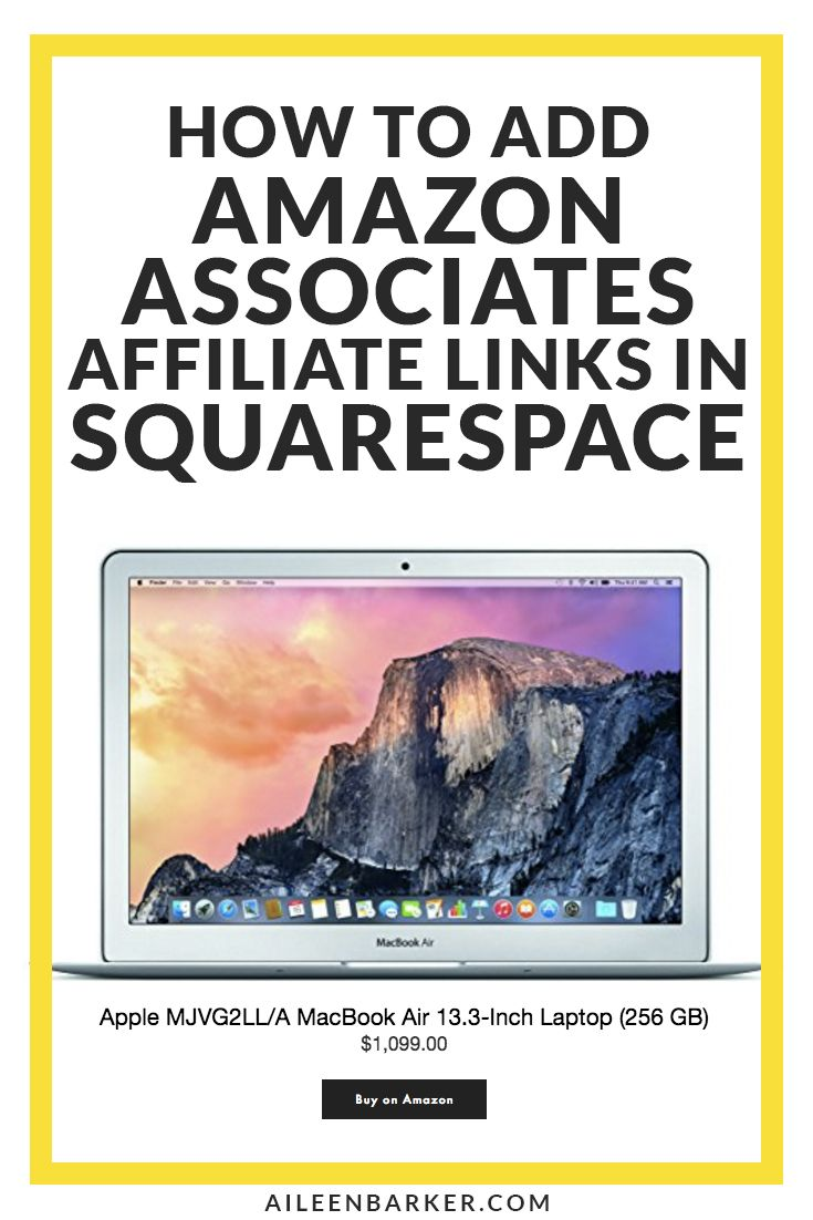 How to Add Amazon Associates Affiliate Links in Squarespace