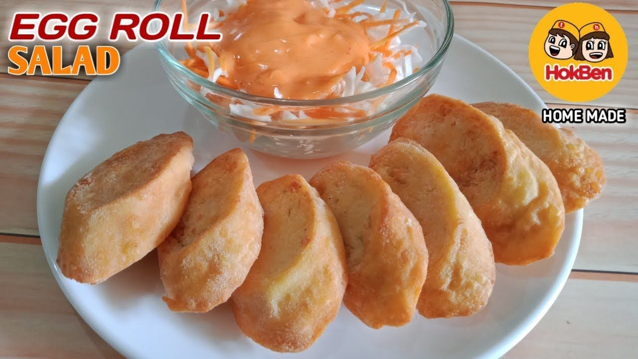 Chicken Egg Roll Dan Salad Ala Hokben Rasanya Mirip Banget Youtube Makanan Ide Makanan Resep Makanan