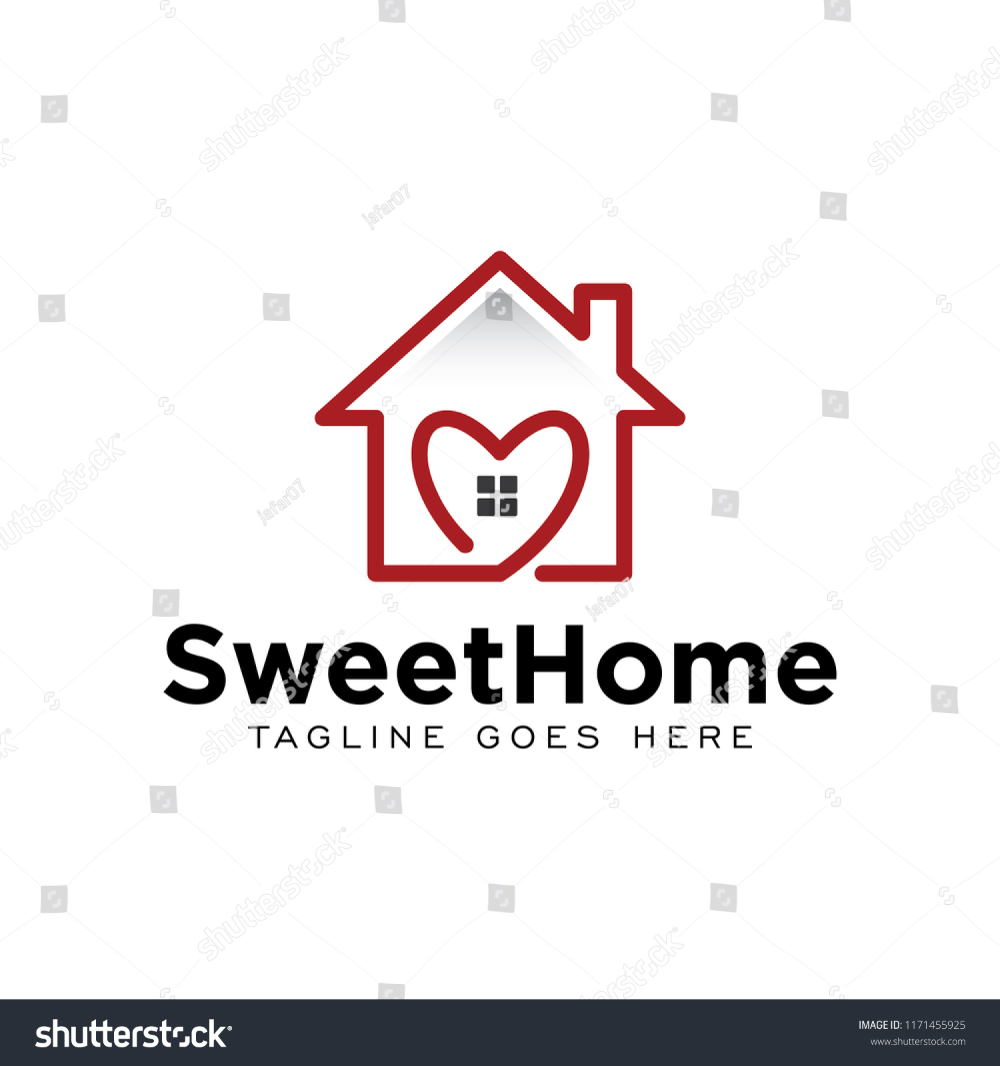 Sweet Home House Logo Icon Vector Stock Vector Royalty Free