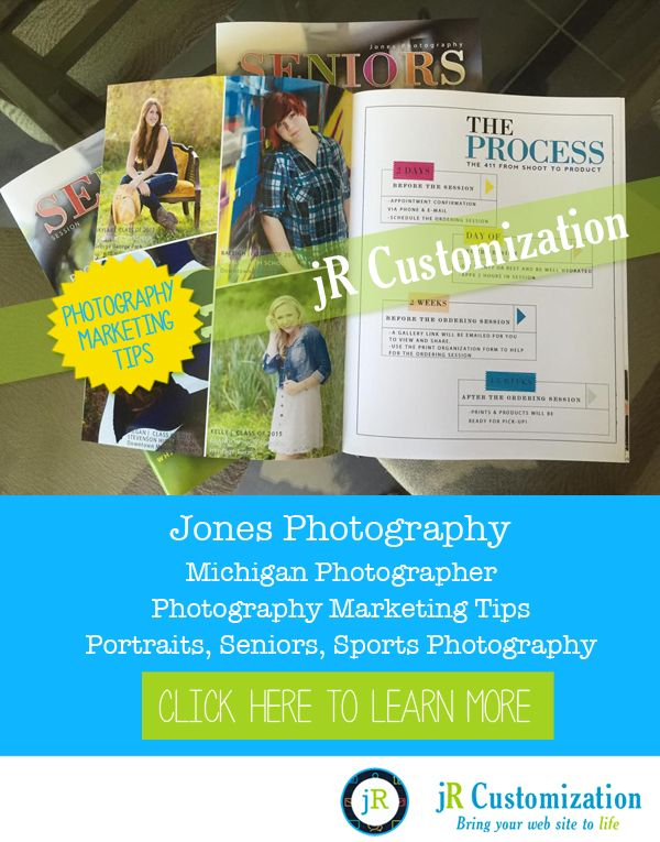 #SmugMug Site of the Week - Marketing Tips from Jones Photography.  Macomb County #Michigan #Portraits, #Seniors, #Sports Photography - click to read more