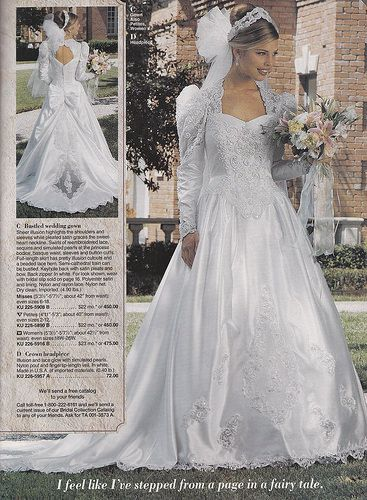 From a mid 90 39 s jc penney bridal catalog wedding dress for Jc pennys wedding dresses