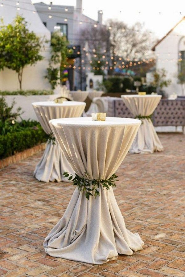 chic rustic wedding cocktail table decorations for backyard wedding