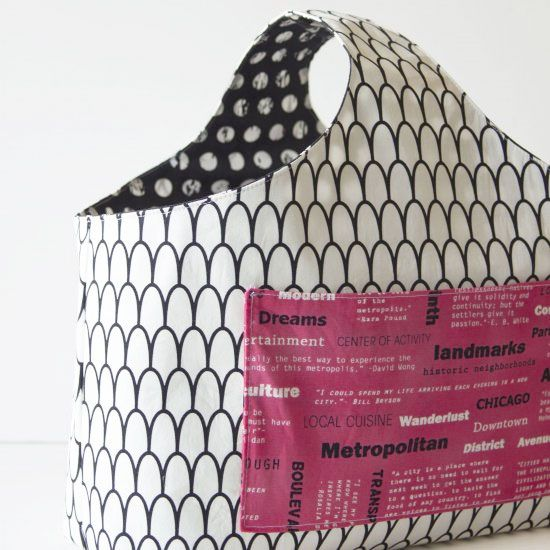 Knitting Bag Patterns To Sew : Our reversible box tote is the perfect project bag great