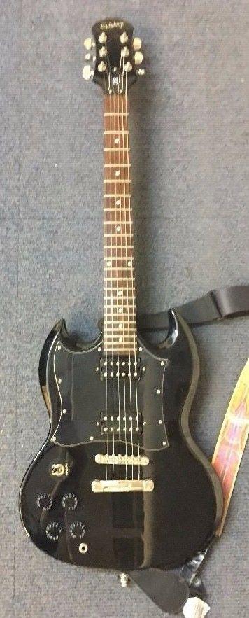 epiphone sg g310 left handed electric guitar- black