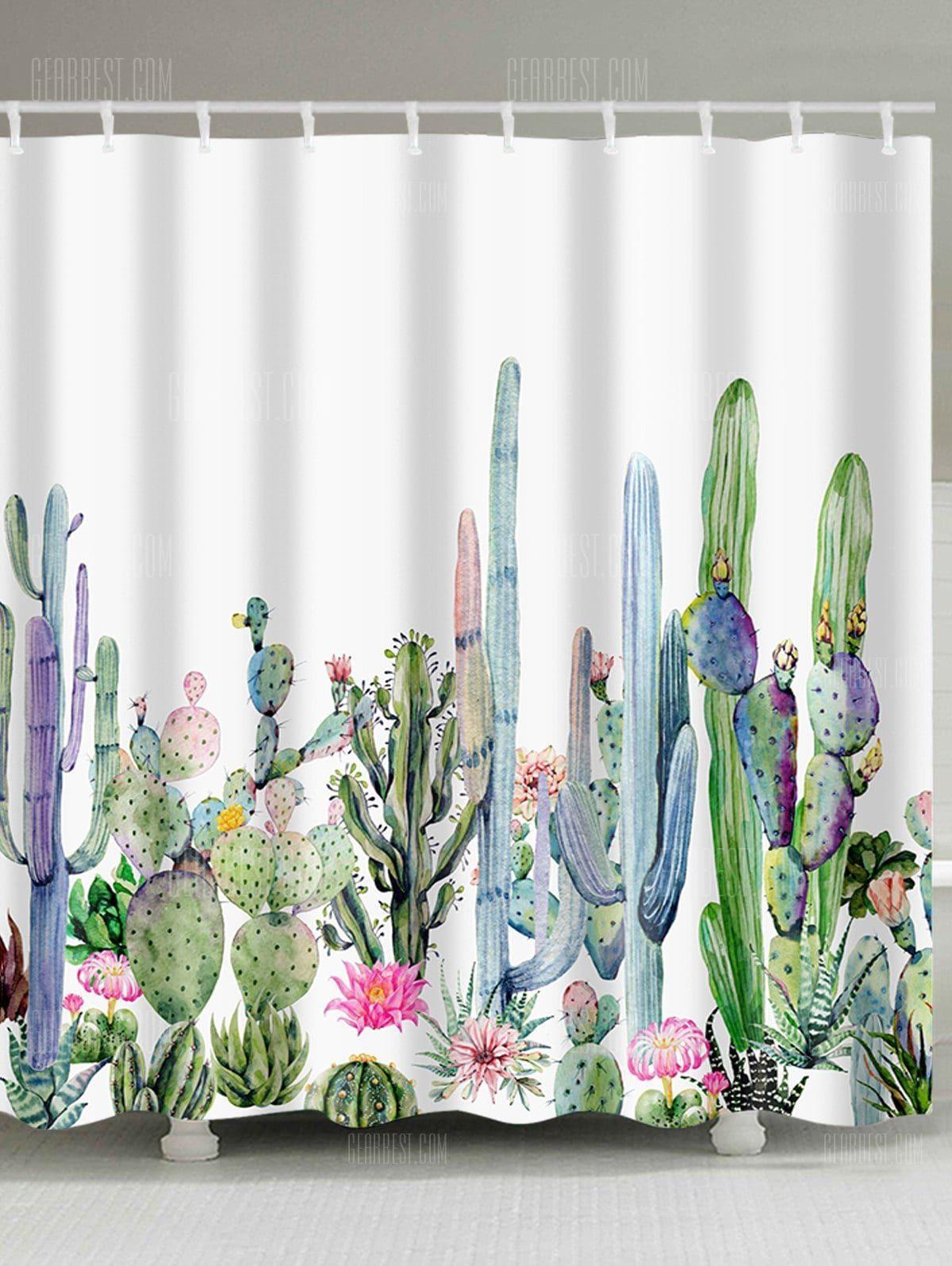 Fabric Shower Curtain Multi W59 Inch L71 Inch Window Treatments