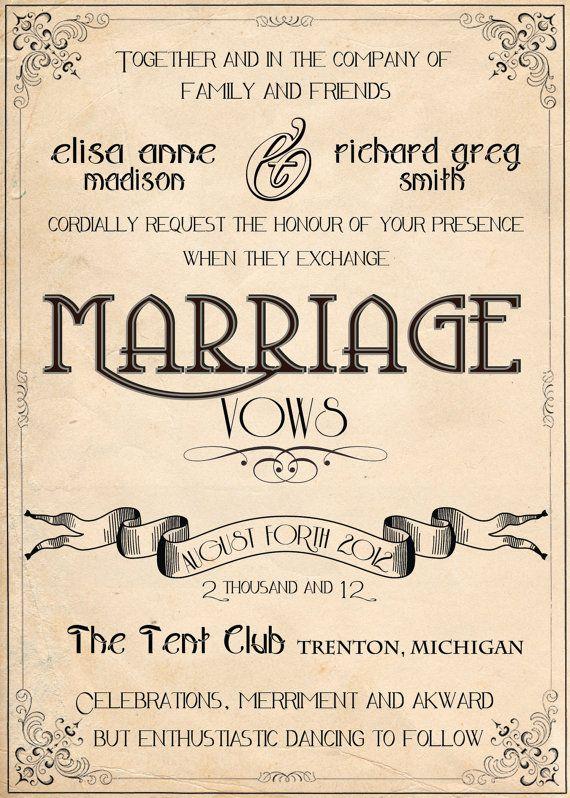 Wedding Invitations Retro Vintage Art Nouveau By Abandig On Etsy 2 00 Retro Wedding Invitations 1920s Wedding Invitations Vintage Wedding Invitations
