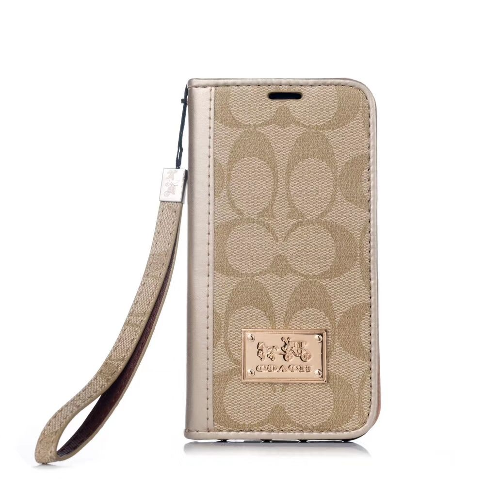 3354 coach flip chain leather case for iphone 11 pro max