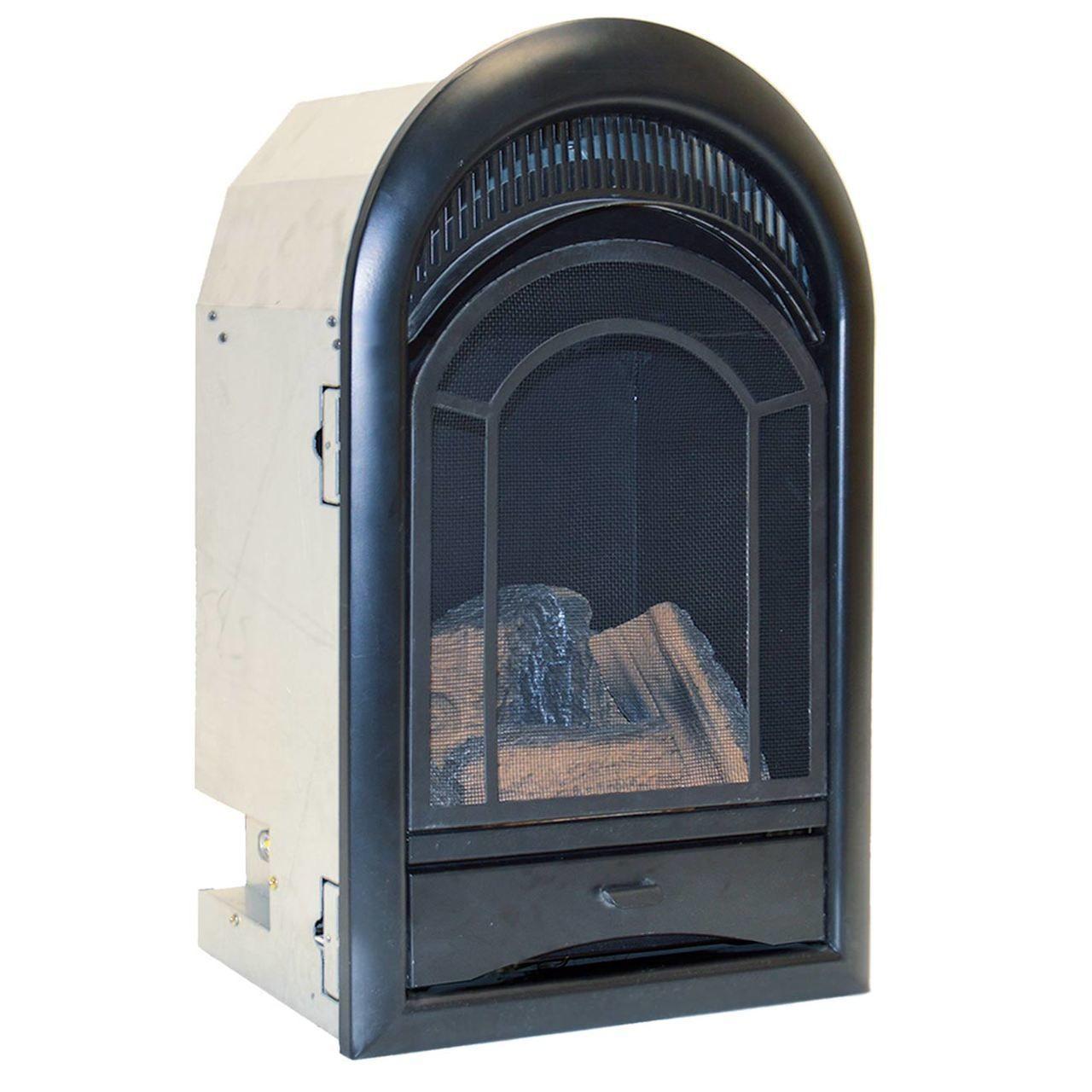 Procom Ventless Fireplace Insert Thermostat Control Arched Door 10 000 Btu Model Pcs100t Ventless Fireplace Ventless Fireplace Insert Fireplace Inserts