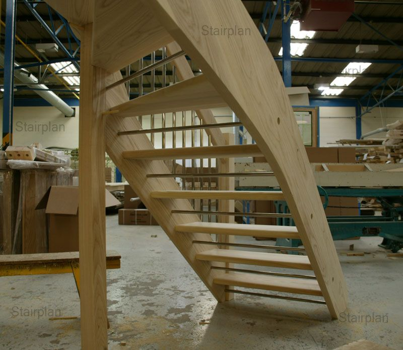 Incroyable Underside Of A Openplan Winder Staircase