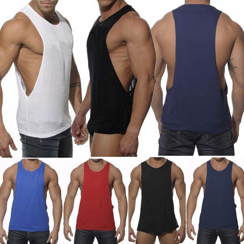Mens Gym Sleeveless Vest Bodybuilding Muscle Shirt Stringer