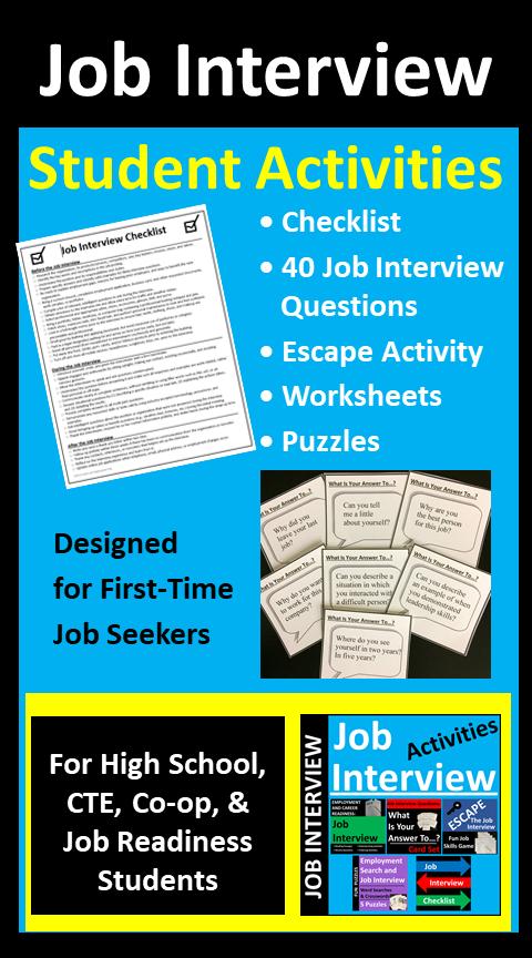 Job Interview Activities For Students In 2020 Job Interview Student Activities Student Interview