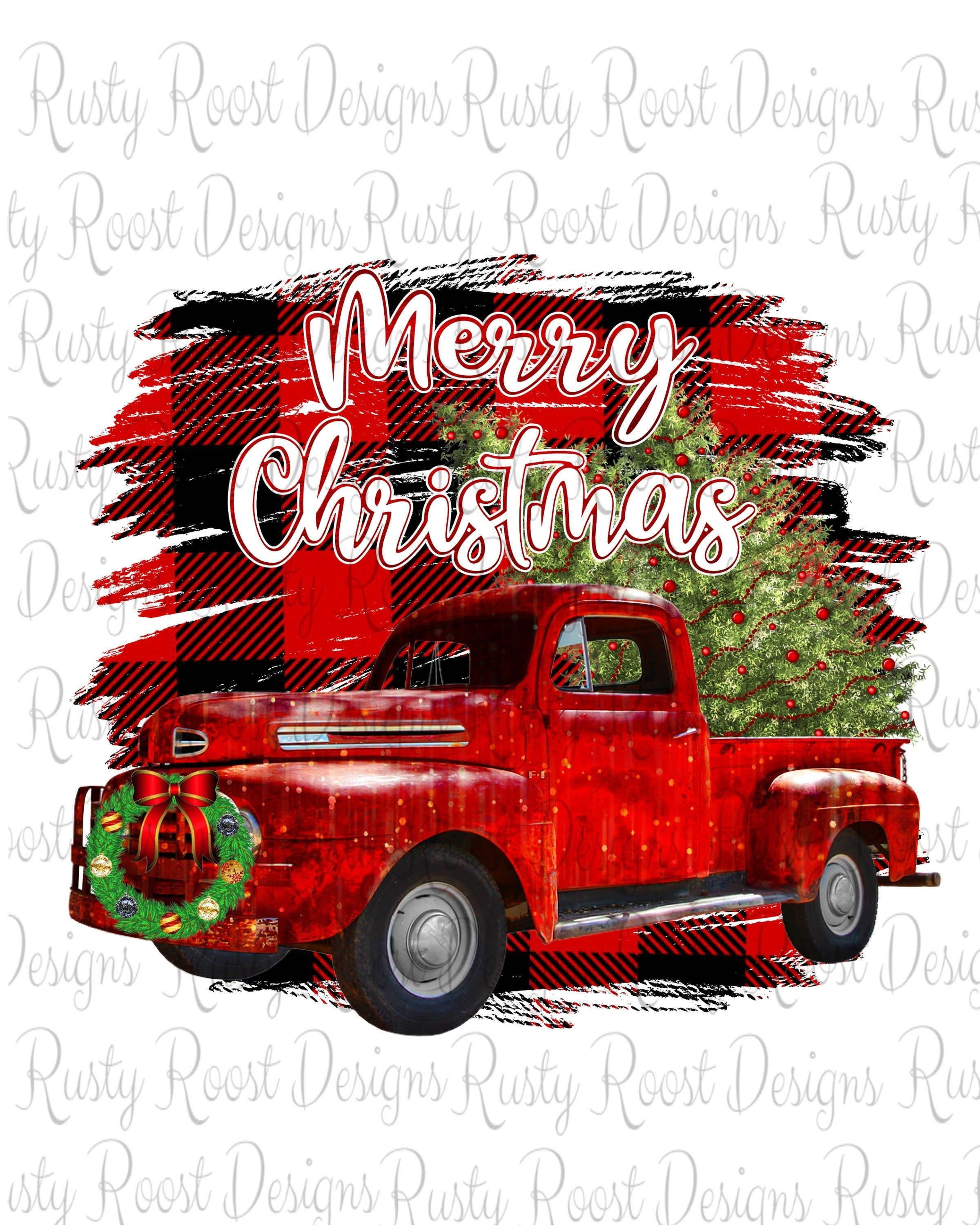 Red Christmas Truck Png Christmas Sublimation Designs Downloads