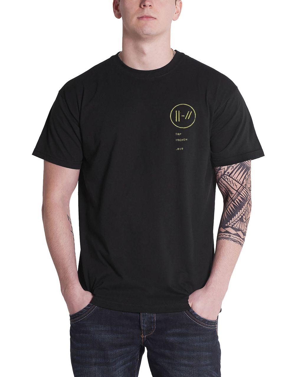 364169e2b Twenty One Pilots T Shirt Trench Bandito Circle Band Logo Mens Black - Paradiso  Clothing