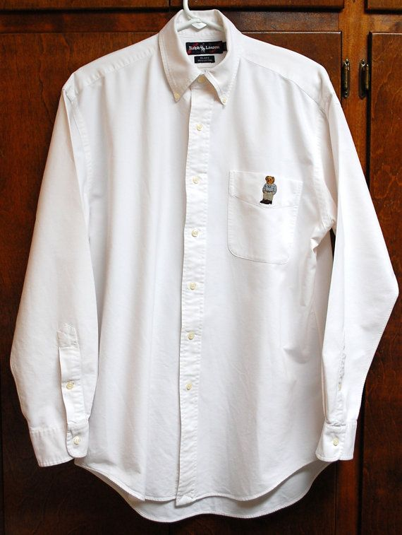 798ad2db823 Vtg.Ralph Lauren Polo Men s Shirt Sz Sm Med Blake Shirt White Oxford ...