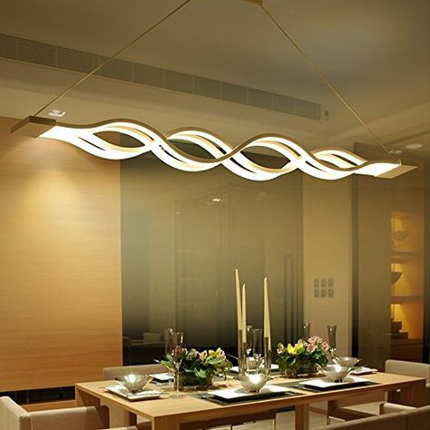 KJLARS LED Pendelleuchte, esstisch Hängelampe Wohnzimmer Küche LED - led design wohnzimmer