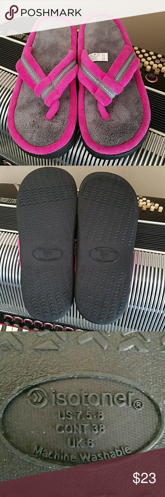 421cf626bfef NWOT-ISOTONER FLIP FLOP SLIPPERS NWOT-ISOTONER FLIP FLOP SLIPPERS. Size 7.5-8  isotoner Shoes Slippers
