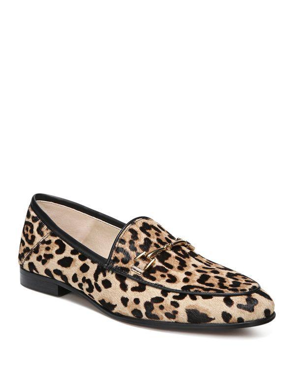 075fa9dcb9c Sam Edelman Loraine Printed Calf Hair Loafers Leopard Print Loafers