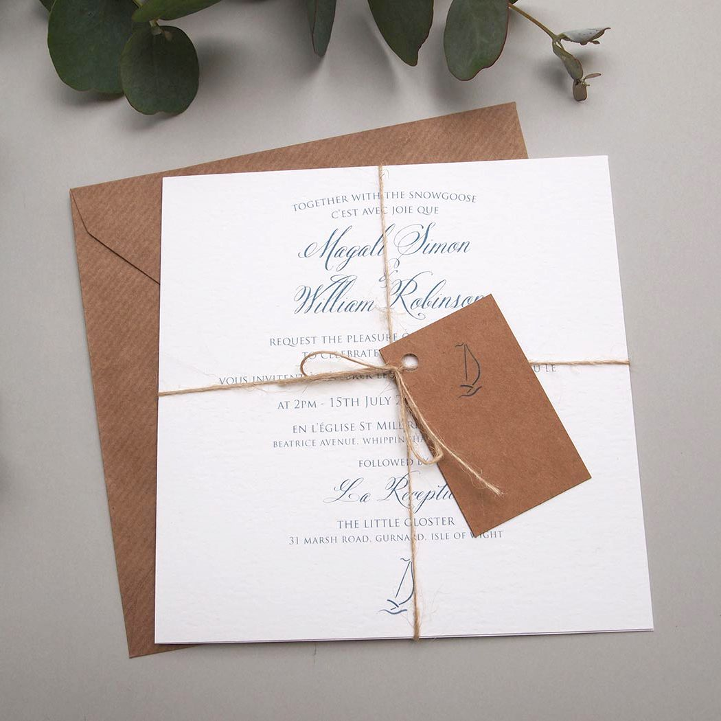 Nautical Boat Wedding Invitation / Coastal Wedding / Sea theme ...