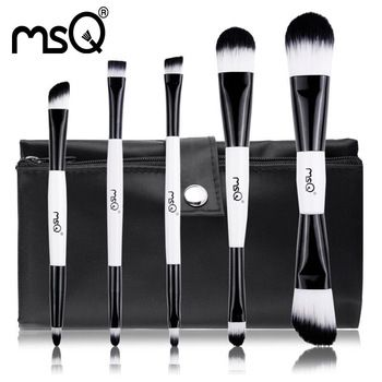 free shipping msq 5pcs cosmetic double end synthetic hair