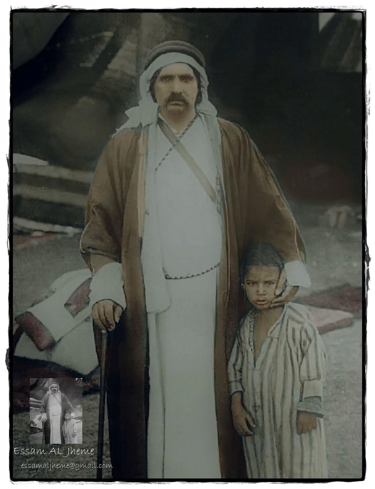 الامير النوري بن هزاع الشعلان وأبنه الامير نواف Islamic World My Images Rare Pictures