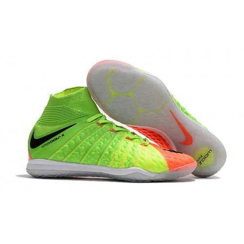 newest collection 5677e 0c9c1 Nike HypervenomX Proximo II DF IC Soccer Boots Green Orange