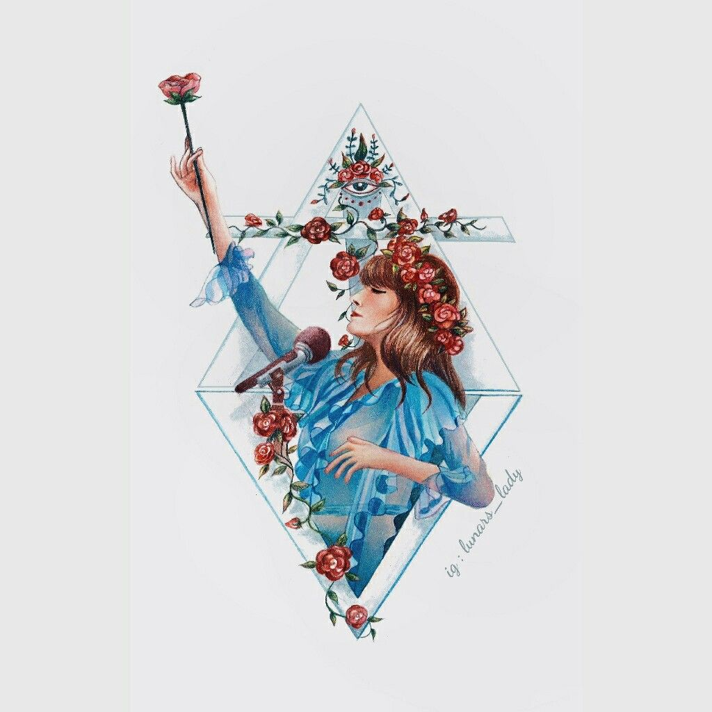 Florence Welch S Illustrations Florence The Machine S Art Watercolor Painting Of Florence Welch Florence Art Florence Welch Florence Welch Tattoo