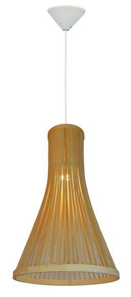 Hängeleuchte in Bambusfarbe - für ein wohnliches Ambiente