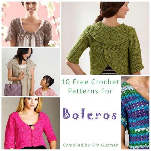 Link Blast: 10 Free Crochet Patterns for Boleros | Crochet ...
