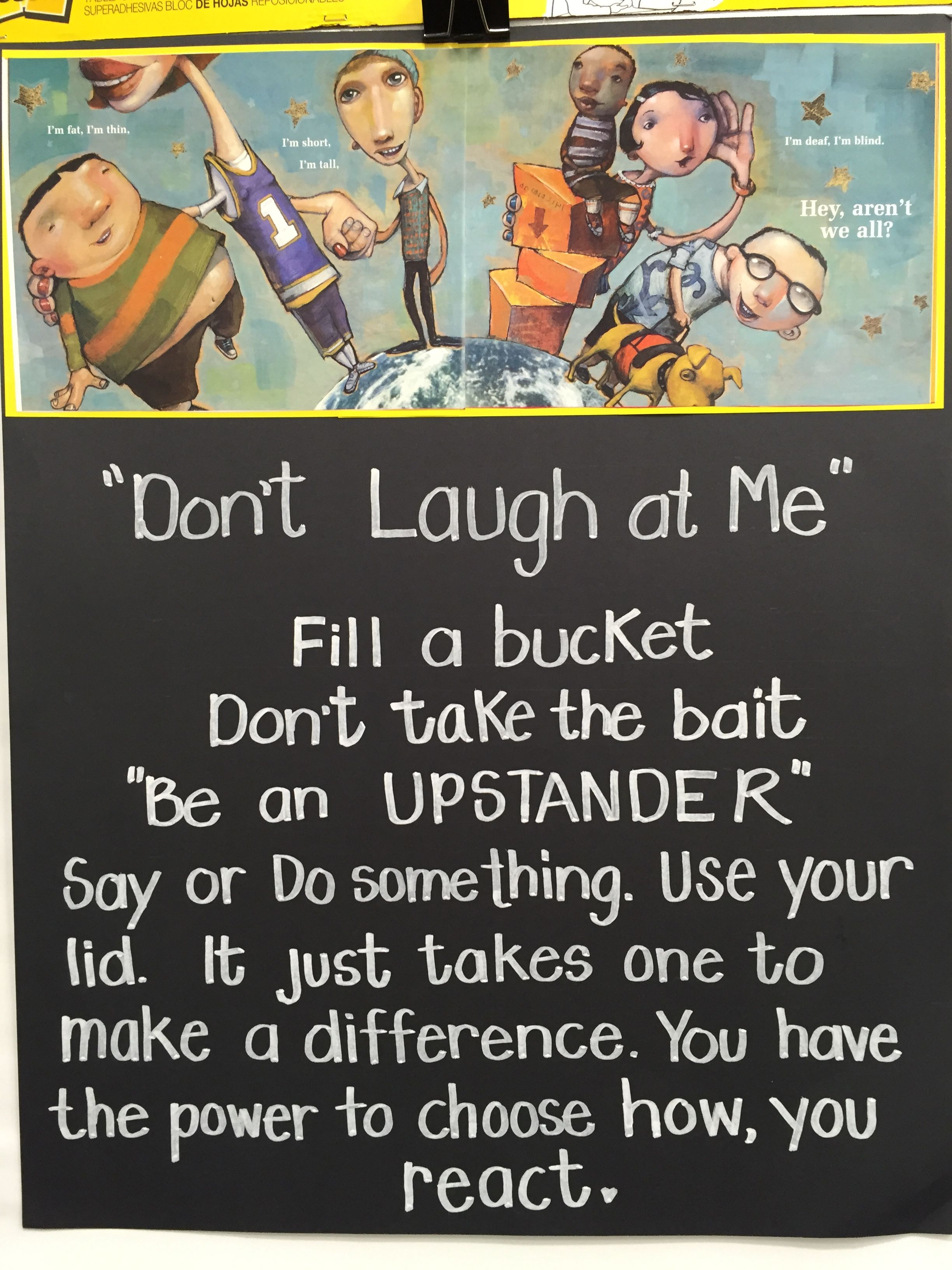 Sample poster for the Do 't Laugh at me lesson. | Don't Laugh at ...