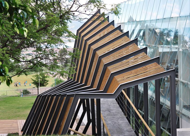 An Unused Building Converted Into A 24 Hour Studio For Art And Design Students Parametric Architecture Facade Architecture Geometry Architecture