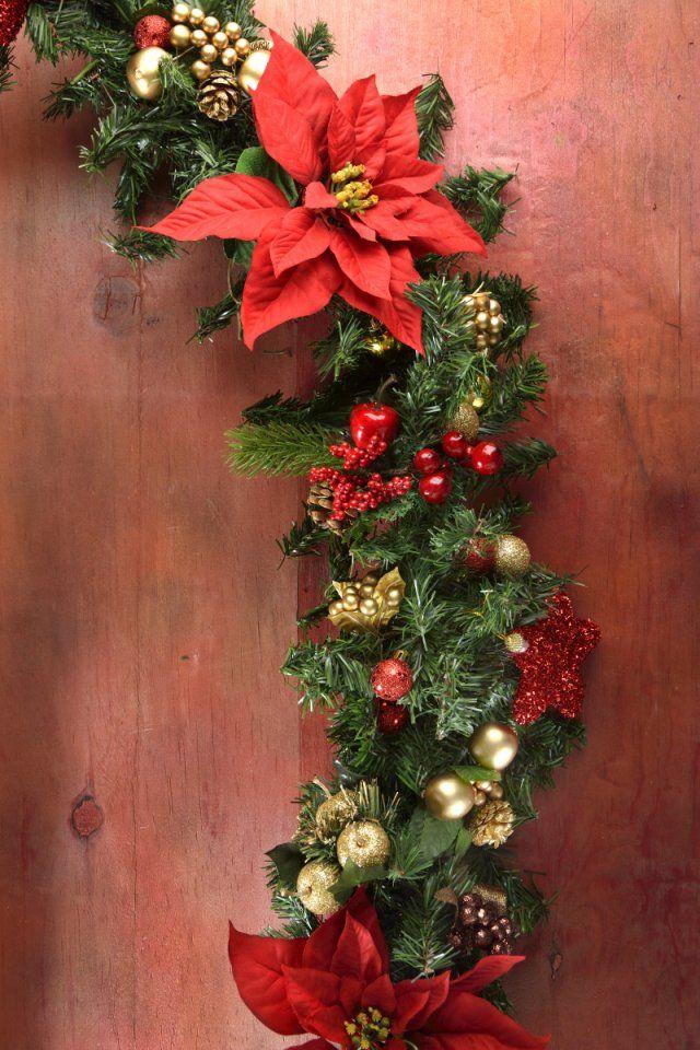 C mo hacer una guirnalda navide a navidad guirnaldas for Guirnaldas para puertas navidenas