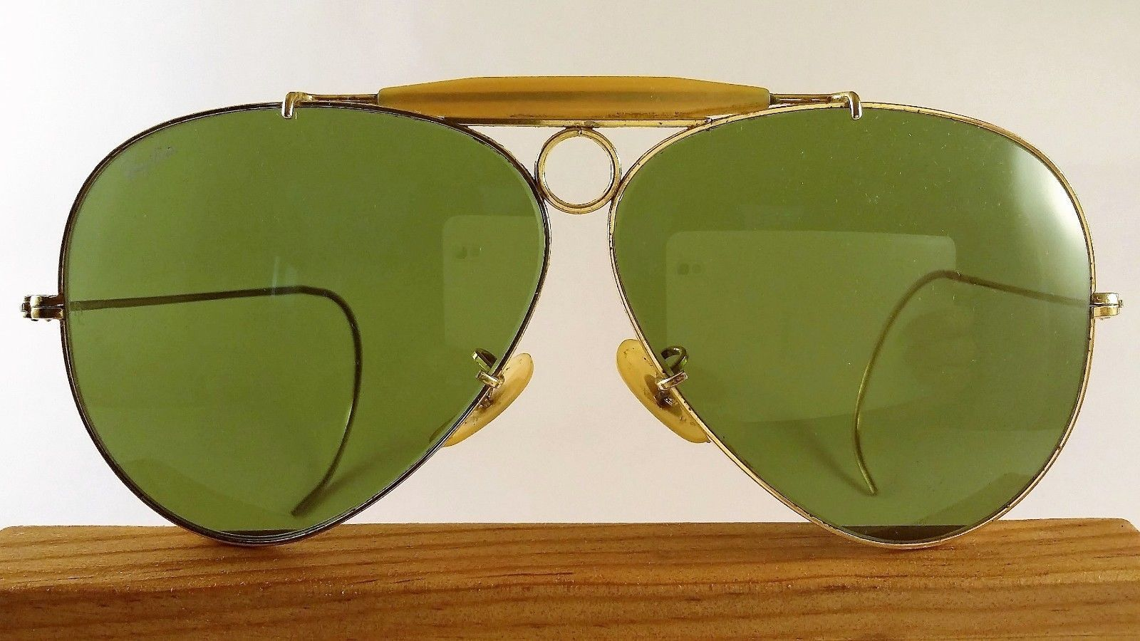 e993f200132 VINTAGE B L Ray-Ban Aviator Bullet Hole Outdoorsman Shooter Sunglasses    Case -  78.00.