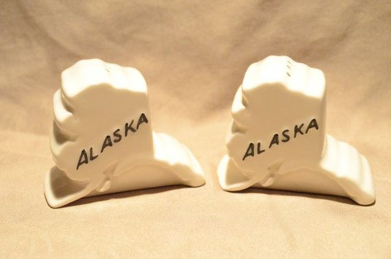 Alaska Salt & Pepper Shakers by Petuniaization on Etsy, $12.95