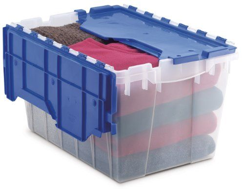 Awesome Akro Mils 66486 Cldbl 12 Gallon Plastic Storage Keepbox With Attached Lid 21 1 2 Inch B Plastic Container Storage Plastic Storage Bins Plastic Storage
