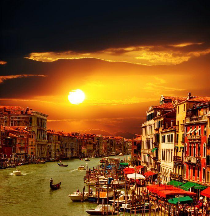 Venice at sunset!