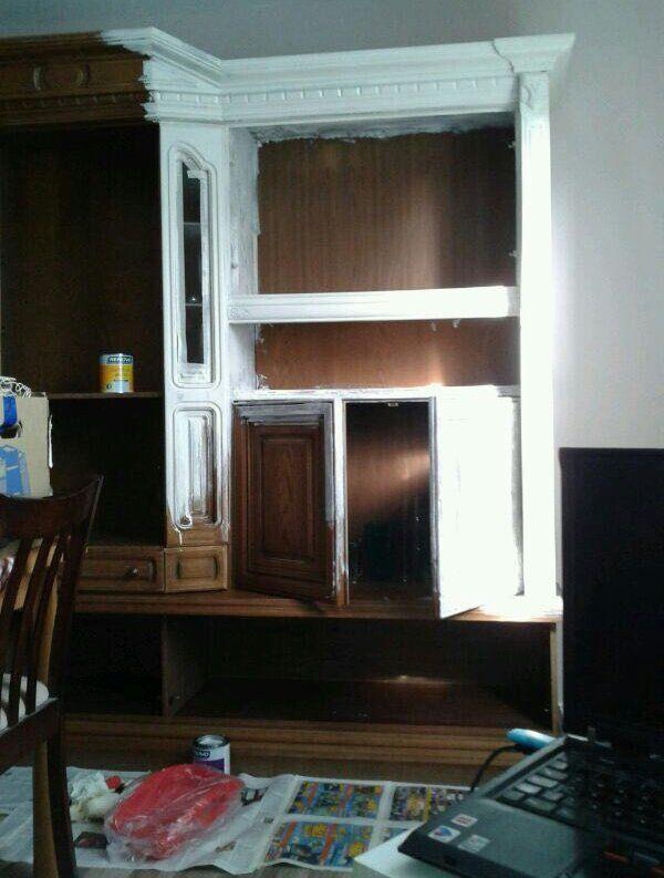 Vorher-Nachher Der Esszimmerschrank Shabby - küche lackieren vorher nachher