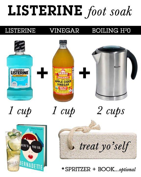 Listerine Apple Cider Vinegar Foot Soak : listerine, apple, cider, vinegar, Fancy, Schmantzy:, Tingly, Soak,, Listerine,, Health, Beauty