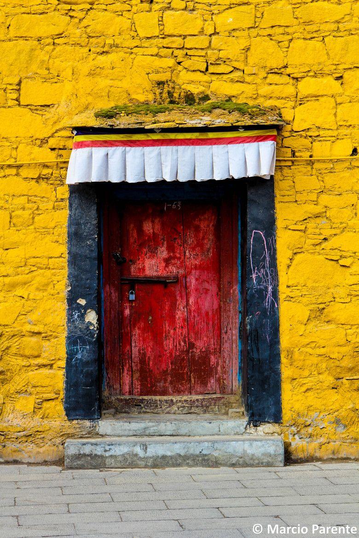 Red Door In Lhasa Tibet China China Pinterest Doors