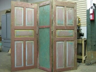 Room Divider Made From Old Doors Doors Of Perception