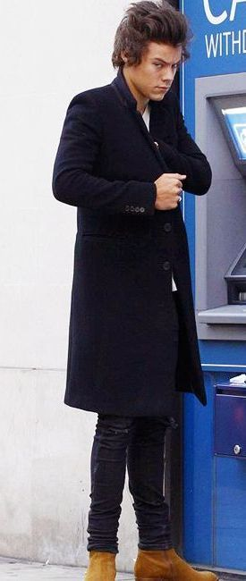 Hahaha he looks like he's about to rob the atm