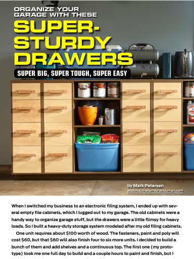 """Super-duty drawers"" in The Family Handyman September 2014."