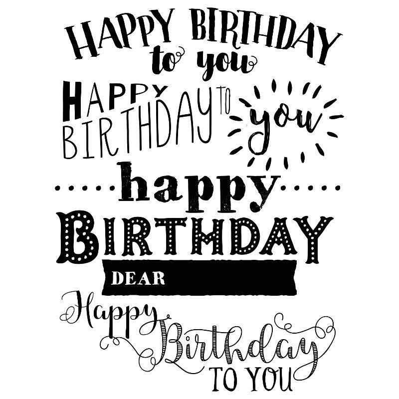 happy birthday to you  chalk transfer