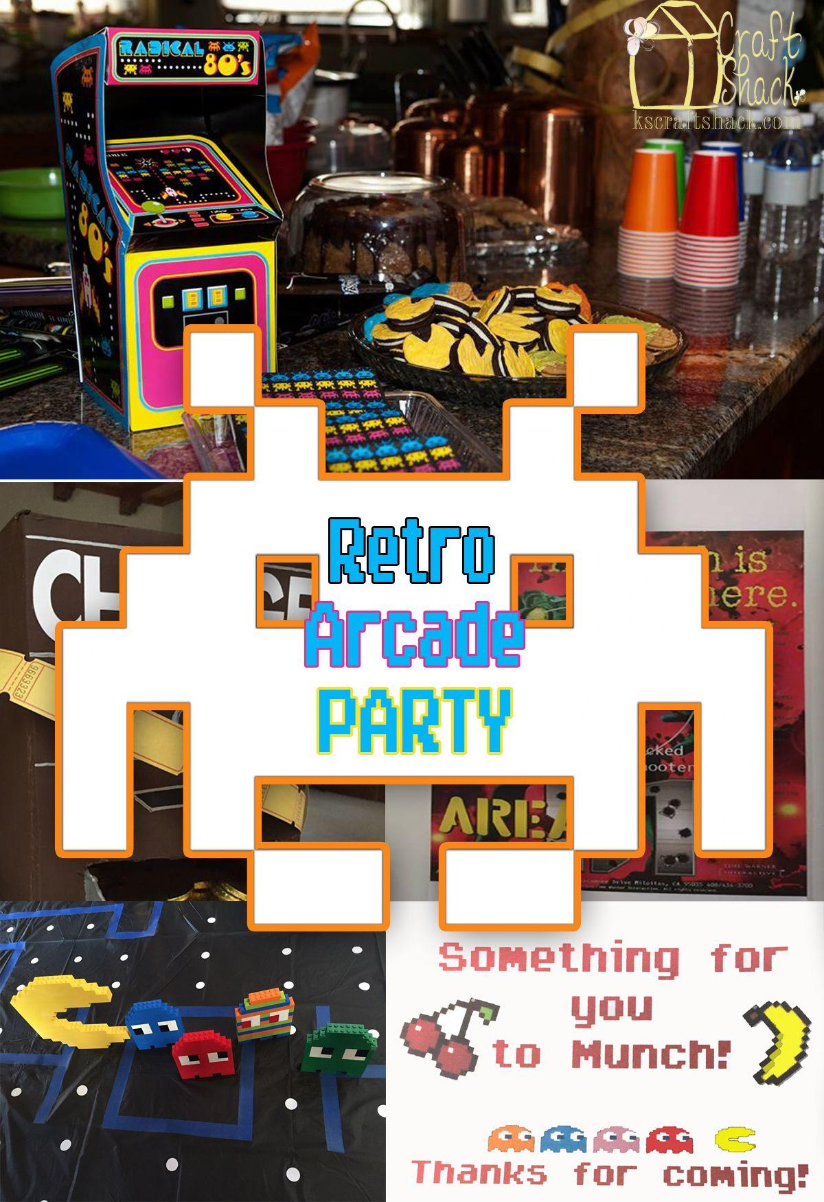 How to throw an awesome Retro Arcade Party Retro arcade
