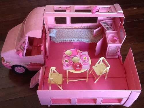 Bagno Barbie ~ Furgão trailler van da barbie completo anos camper