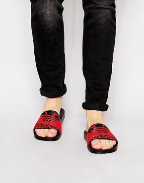 d175c647bdf5e4 Adidas Originals Adilette Trefoil Slider Flip Flops M19343